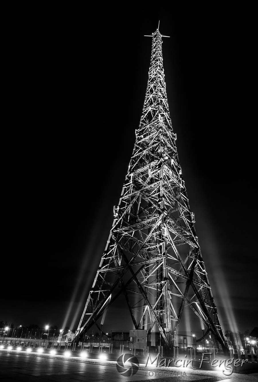 Radiostacja Gliwicka - fotografia nocna, zdjęcia nocne